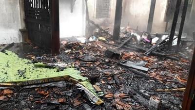 Hà Tĩnh: Cháy nhà do chập điện