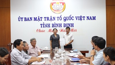 Công nhận chức danh Phó Chủ tịch Mặt trận tỉnh Bình Định