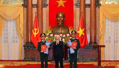 2 Phó Chủ nhiệm Tổng cục Chính trị QĐND Việt Nam được thăng hàm Thượng tướng