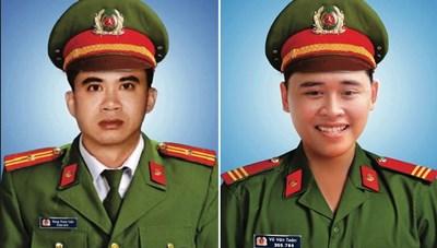 Thăng cấp bậc hàm cho 2 chiến sỹ công an hy sinh khi làm nhiệm vụ tại Đà Nẵng