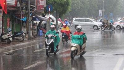 Không khí lạnh ảnh hưởng Bắc Bộ, gây mưa vừa, mưa to