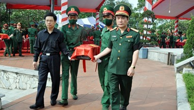 Nghệ An: An táng hài cốt 57 liệt sĩ hy sinh tại Lào