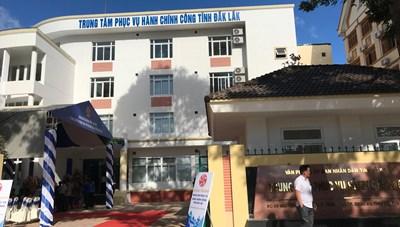 Khai trương Trung tâm hành chính công tại Đắk Lắk