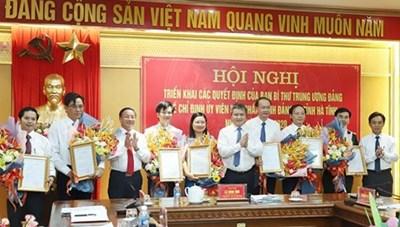 Ban Bí thư Trung ương Đảng chỉ định 8 Tỉnh ủy viên Hà Tĩnh