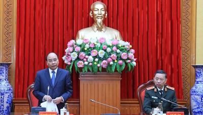Thủ tướng Nguyễn Xuân Phúc dự Hội nghị Đảng ủy Công an Trung ương