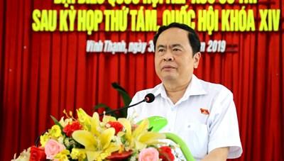 BẢN TIN MẶT TRẬN: Chủ tịch Trần Thanh Mẫn tiếp xúc cử tri huyện Vĩnh Thạnh