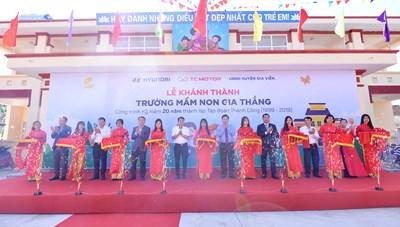 TC MOTOR khánh thành trường mầm non tại xã nghèo thuộc tỉnh Ninh Bình