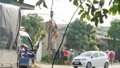 Một công nhân điện lực chết vì… điện giật khi đang làm việc