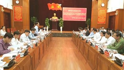 Phó Chủ tịch - Tổng Thư ký Hầu A Lềnh làm việc tại Đà Nẵng