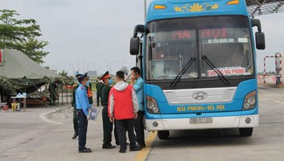 Dừng hoạt động các tuyến vận tải khách cố định của 24 tỉnh, thành phố đi và đến Hải Phòng