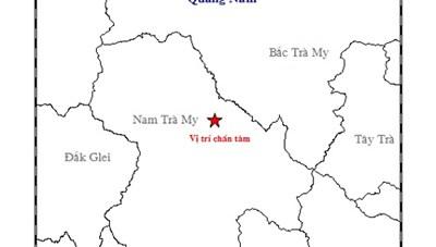 Liên tiếp xảy ra động đất ở Nam Trà My