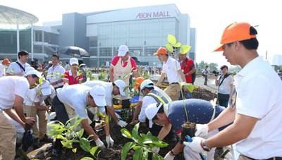 Lễ trồng cây 'Cánh rừng quê hương Aeon'