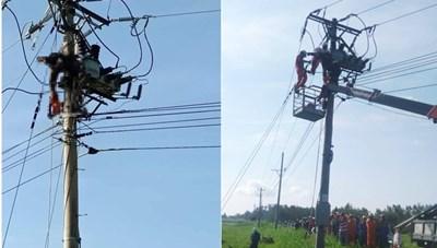Phú Yên: Thi công đường dây điện, 1 công nhân tử vong