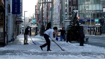 Thủ đô Nhật Bản ghi nhận ngày lạnh nhất trong suốt nửa thế kỷ qua