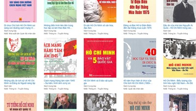 Triển lãm sách trực tuyến kỷ niệm 130 năm Ngày sinh Chủ tịch Hồ Chí Minh