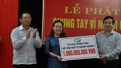 Tập đoàn Trường Thịnh hỗ trợ quỹ 'Vì người nghèo' Quảng Bình 1 tỷ đồng