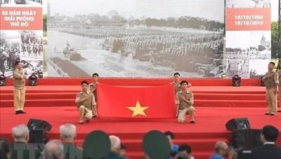 Tái hiện Lễ chào cờ lịch sử trong Ngày Giải phóng Thủ đô