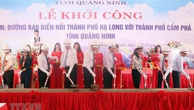 Khởi công dự án đường bao biển nối Hạ Long vớiCẩm Phả