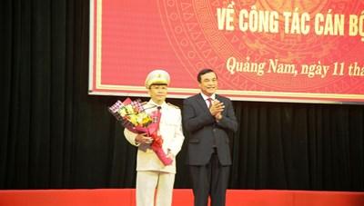 Giám đốc Công an tỉnh Quảng Namđược thăng hàm Thiếu tướng