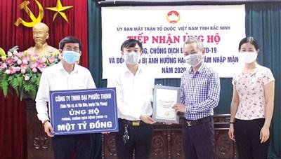 Bắc Ninh: Hơn 27 tỷ đồng ủng hộ phòng, chống Covid-19 và hạn hán, xâm nhập mặn