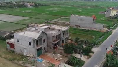 Ý Yên (Nam Định): Lại ồ ạt xây nhà trên đất nông nghiệp