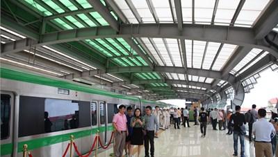 [ẢNH]: Nhà ga kiểu mẫu đường sắt trên cao Cát Linh- Hà Đông
