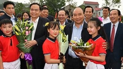 [ẢNH] Thủ tướng dự Ngày hội Đại đoàn kết toàn dân tộc tại Bắc Giang