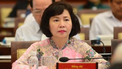 Bà Hồ Thị Kim Thoa bị miễn nhiệm chức Thứ trưởng