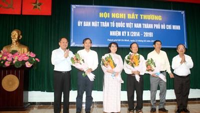 Bà Tô Thị Bích Châu được hiệp thương cử làm Chủ tịch Ủy ban MTTQ TP HCM