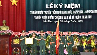 Bộ Tham mưu Quân khu 9 đón nhận Huân chương Bảo vệ Tổ quốc hạng Nhì