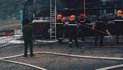 Cháy xe giường nằm tại Phú Yên