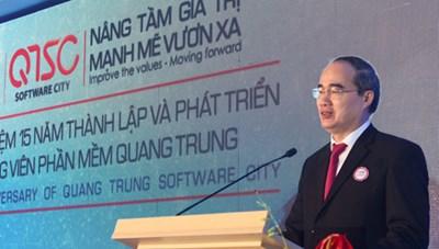 Chủ tịch Nguyễn Thiện Nhân dự Kỷ niệm 15 năm thành lập Công viên Phần mềm Quang Trung