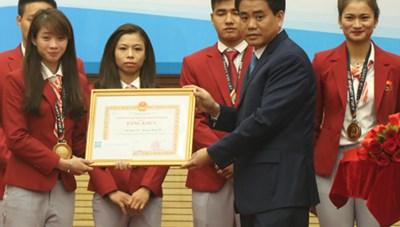 'Cô gái vàng' wushu được đề cử công dân thủ đô ưu tú