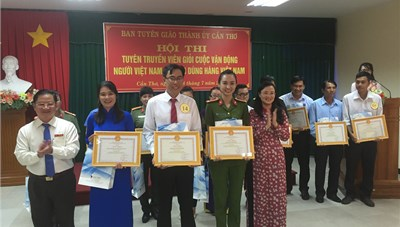 Đại học Cần Thơ đạt giải nhất cuộc thi tuyên truyền viên giỏi