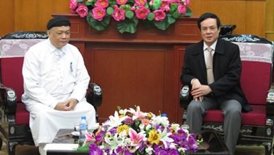 Hội Thánh Cao Đài Tây Ninh thăm MTTQ Việt Nam