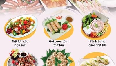 [Infographics] Những món ngon từ thịt lợn chống ngán trong dịp Tết