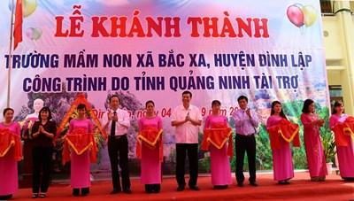 Khánh thành trường mầm non do tỉnh Quảng Ninh tài trợ