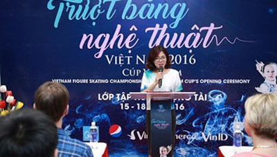 Khởi động giải trượt băng nghệ thuật Việt Nam 2016 - cúp Vincom