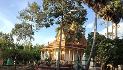 Ngôi chùa Khmer cổ nhất  ở Hậu Giang