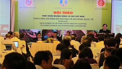 Phát triển cà phê Việt Nam thích ứng với biến đổi khí hậu và hội nhập quốc tế