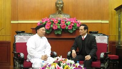 Phó Chủ tịch Lê Bá Trình tiếp Hội thánh Cao Đài Ban Chỉnh đạo