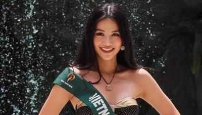 Phương Khánh đoạt giải Bạc phần thi bikini tại Hoa hậu Trái đất 2018