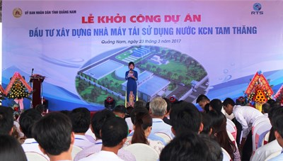 Quảng Nam sắp có Nhà máy tái sử dụng nước