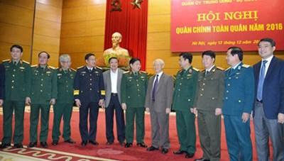 Tổng Bí thư dự Hội nghị Quân chính toàn quân năm 2016
