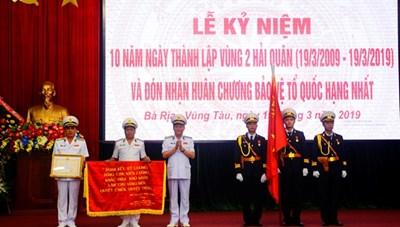 Vùng 2 Hải quân Việt Nam nhận Huân chương Bảo vệ Tổ quốc hạng Nhất