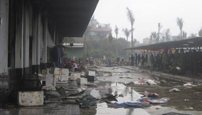 Cháy lớn tại chợ Phố Hiến