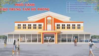 Dự án Khu nhà ở thương mại và Chợ trung tâm Hộ Phòng:  Điểm nhấn thị xã Giá Rai