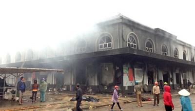 Hưng Yên: Hỗ trợ tiểu thương vụ cháy chợ Phố Hiến