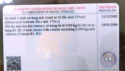 Cấp, đổi giấy phép lái xe mới sử dụng mã quét QR để chống gian lận
