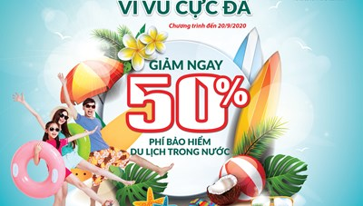 BIC giảm phí 50% cho khách hàng tham gia bảo hiểm du lịch trong nước